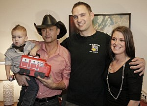 Tim McGraw and LaDuke Family