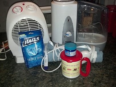 Equipment for battling a summer cold