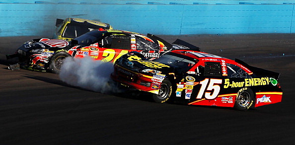 Jeff Gordon - Clint Bowyer crash