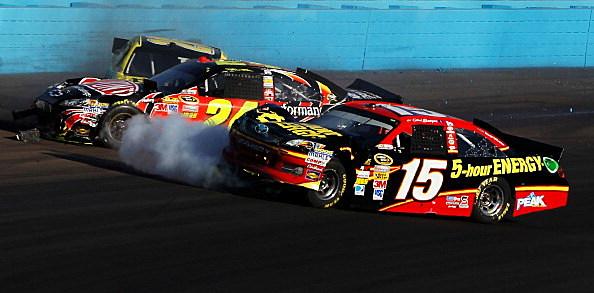 Jeff Gordon - Clint Bowyer crash