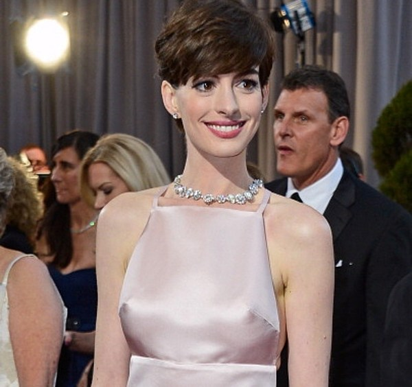 Anne Hathaway's Oscar Nipple Dress [PHOTOS]