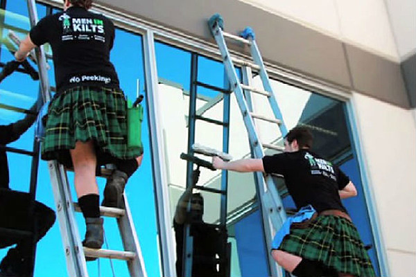 Men With Kilts Window Cleaning Service Requests No