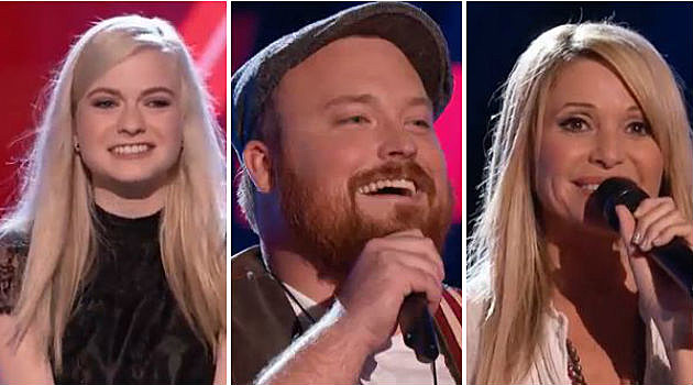 Holly Henry, Austin Jenckes, E.G. Daily on Team Blake of The Voice