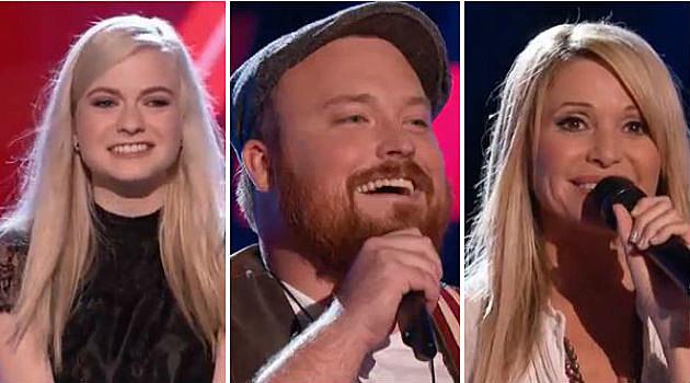 Holly Henry, Austin Jenckes, E.G. Daily on Team Blake of The Voice