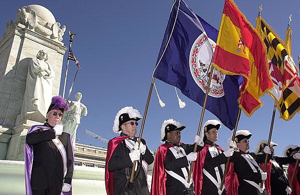 Columbus Day Knights Of Columbus Color Guard