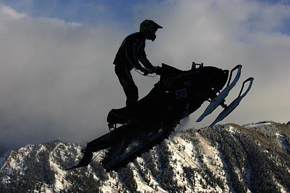 snowmobile on mountain