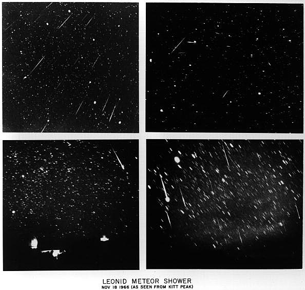 Four Views Of The Leonid Meteor Shower Of 1966 A Peak Year For This Active Yearly Shower The Next
