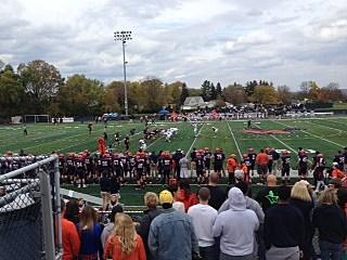 Utica College-Ithaca College Football game