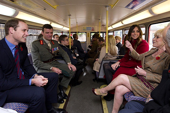 Prince William And Duchess Kate on bus