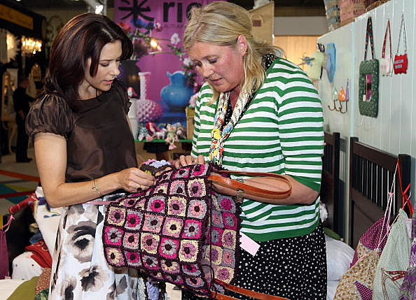 women at crafts show