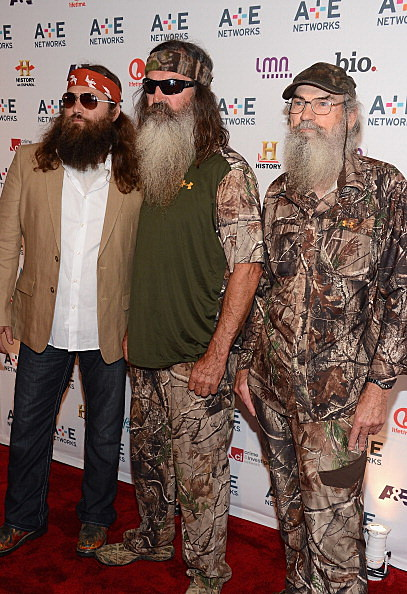 Willie Robertson, Phil Robertson and Si Robertson of Duck Dynasty