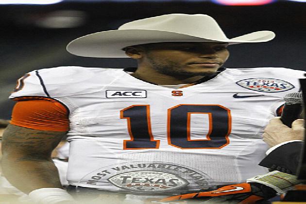 Terrel Hunt #10 of the Syracuse Orange