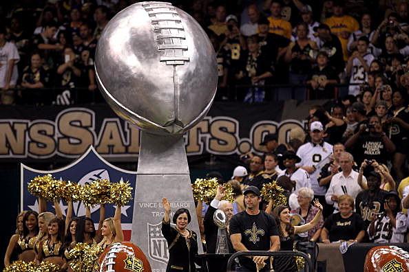 Saints Celebrating Their Super Bowl Win