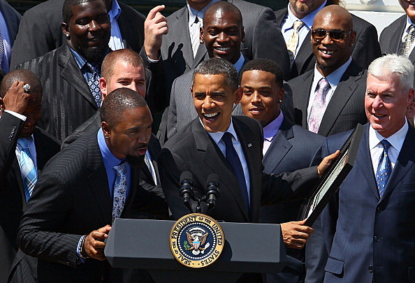 Charles Woodson with The 2010 Packers and President Obama
