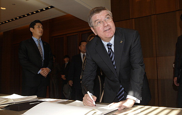 IOC President Thomas Bach Visits South Korea