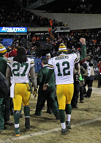 Aaron Rodgers and Eddie Lacy