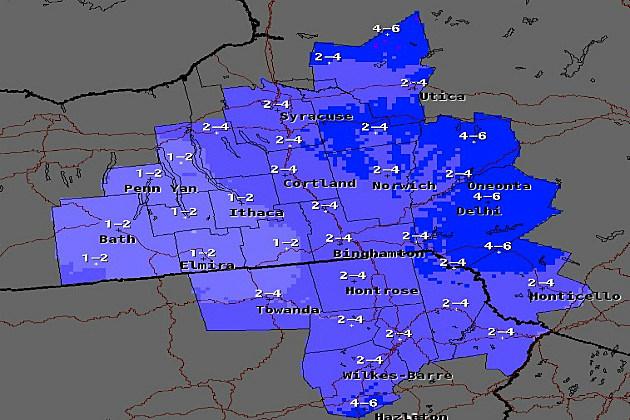 Snsowfall Forecast 01-25-14