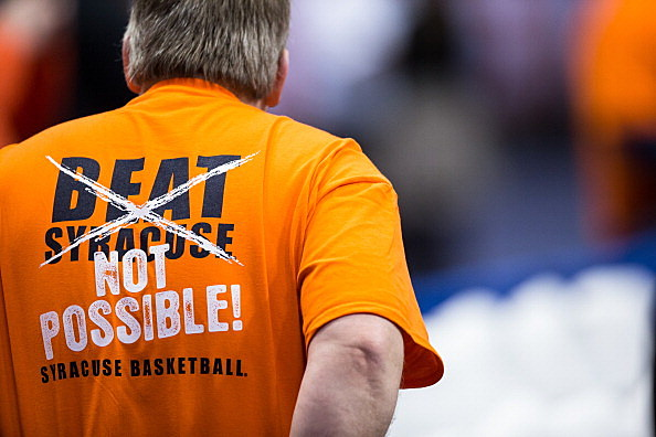 A Fan At The Notre Dame v Syracuse Game