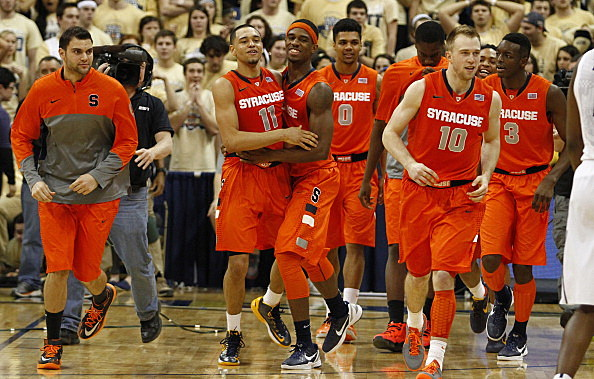 Celebration After The Game Winning Three by Tyler Ennis