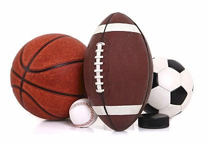 Football, Basketball, Baseball, Soccer Ball