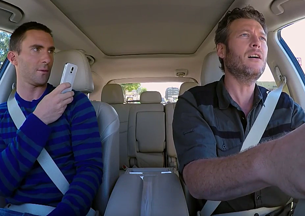 Blake Shelton And Adam Levine Ride To Work Together
