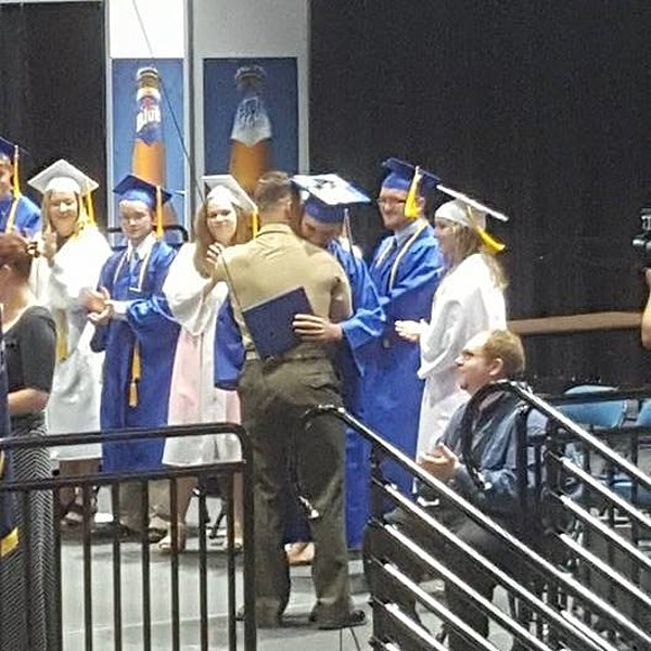 Military Surprise Homecoming At Whitesboro Graduation