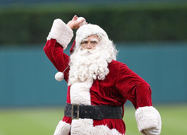 Santa Playing Baseball